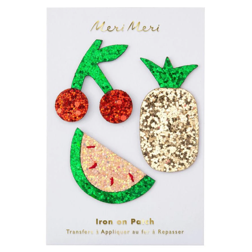 Glitter Fruit Iron-On Patches