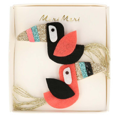 Felt Hair Clips, Toucans