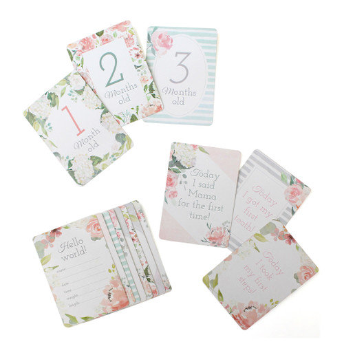 Baby Milestone Cards, Floral