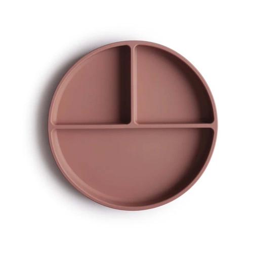 Silicone Suction Plate, Cloudy Mauve