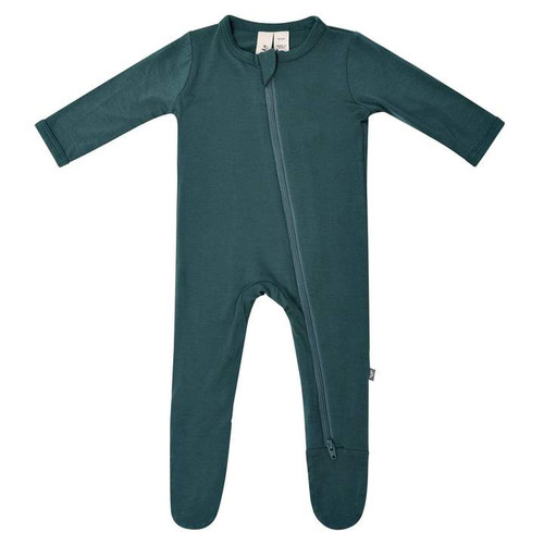 Bamboo Zip Footie, Emerald