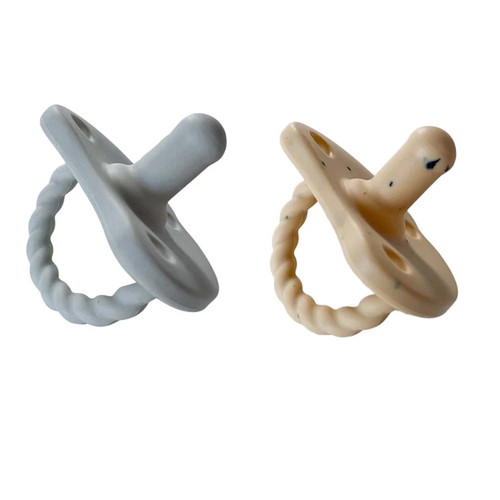 2 Pack Pacifier Twist / Grey & Tan Speckle