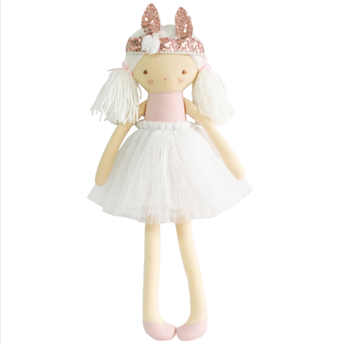 Sienna Bunny Crown Doll, Soft Pink
