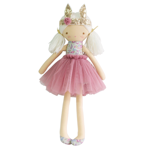 Sienna Bunny Crown Doll, Grey Blush