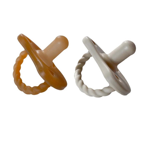 2 Pack Pacifier Twist / Natural & Oat