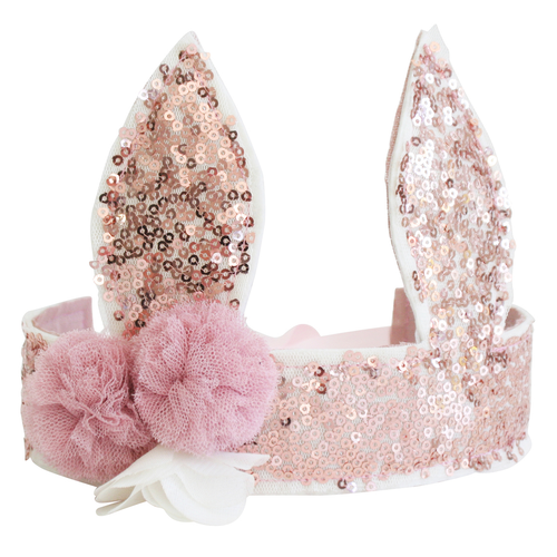 Sequin Bunny Crown, Rose