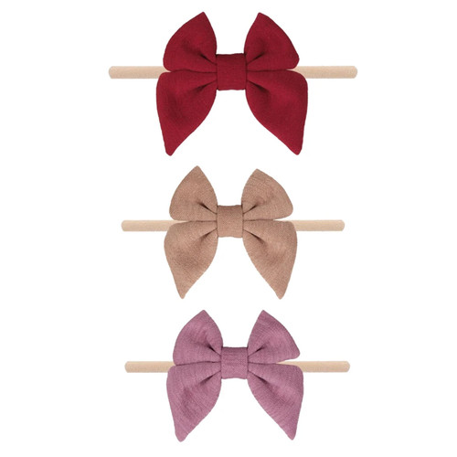 Fall Cotton Bow Headband Set