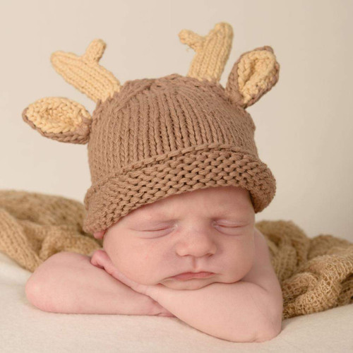 Buck Newborn Knit Hat