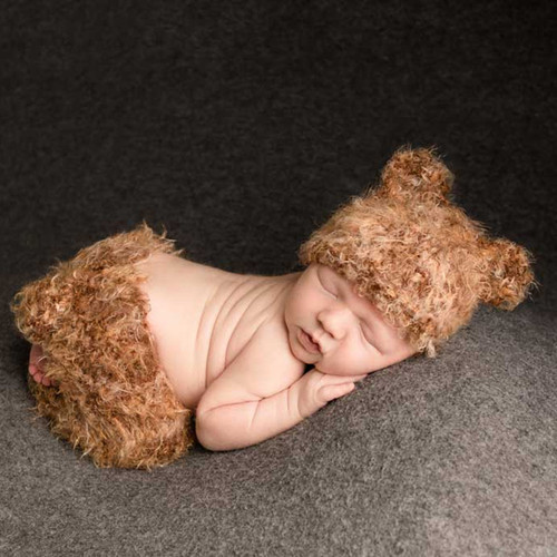 Fuzzy Brown Bear Newborn Set