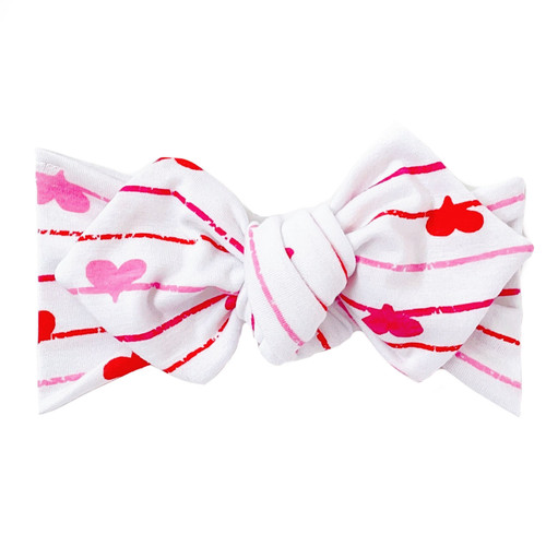 Top Knot Headband, Valentine Hearts