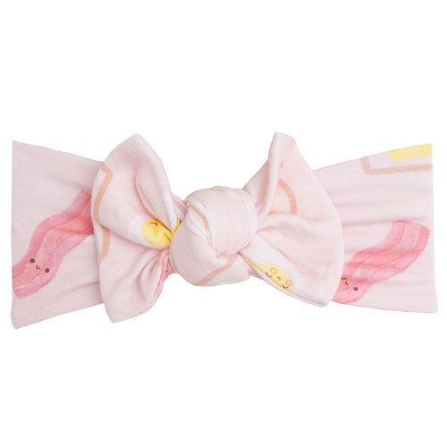 Knot Headband, Bacon & Eggs Pink