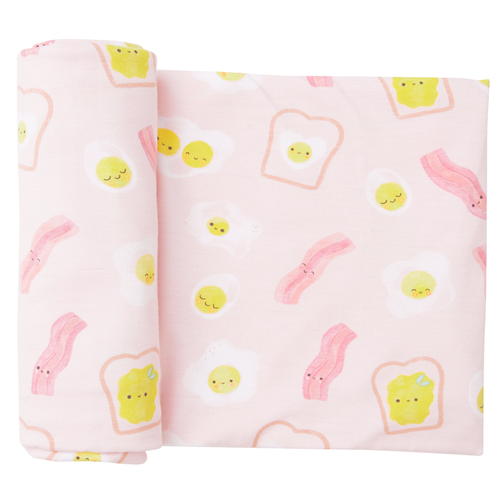 Bamboo Swaddle, Bacon & Eggs Pink