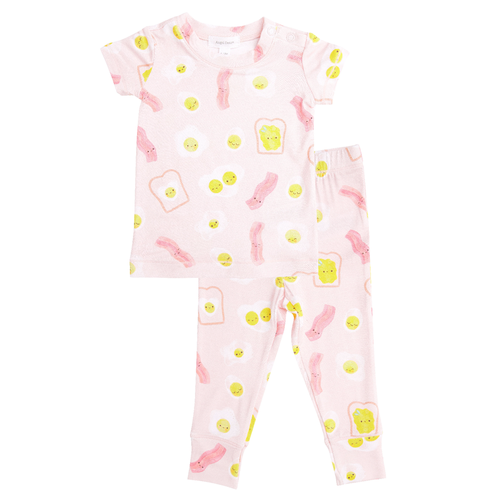 2-Piece Set Lounge Wear Set, Bacon & Eggs Pink