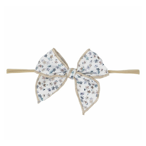 Skinny Edged Bow, Winter Daisy