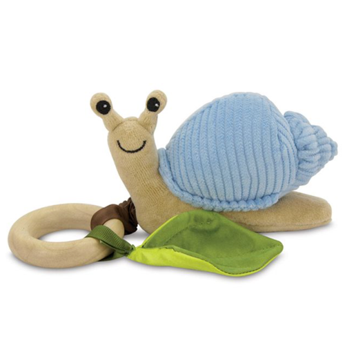 Snail Teething Toy, Blue Corduroy