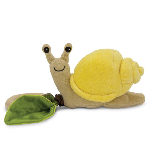 Snail Teething Toy, Yellow Velour