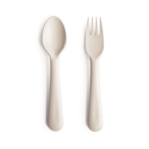 Fork and Spoon Set, Ivory