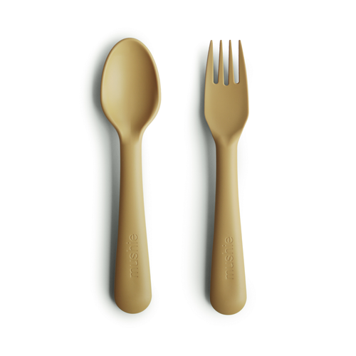 Fork and Spoon Set, Mustard