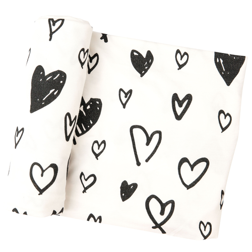 Bamboo Swaddle, Hearts