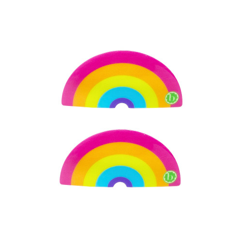 2-Pack Rainbow Clips, Neon