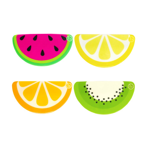 4-Pack Novelty Resin Clips, Fruit Slices
