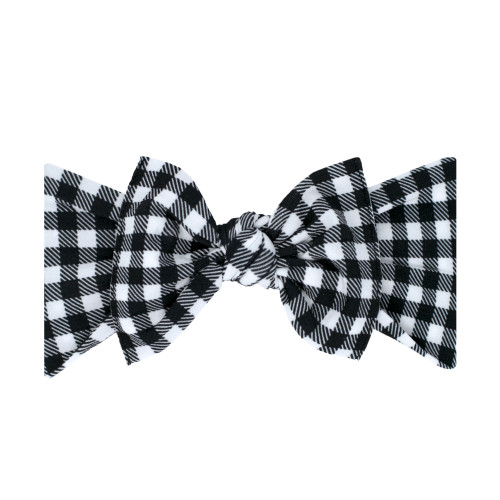 Knot Bow, Black Gingham