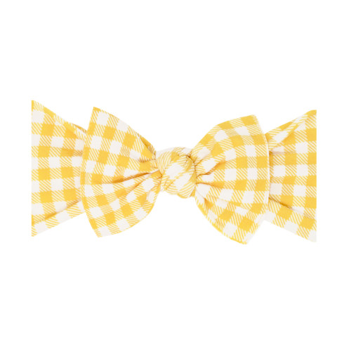 Knot Bow, Mustard Gingham