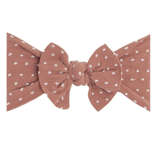 Shabby Knot Bow, Putty Dot