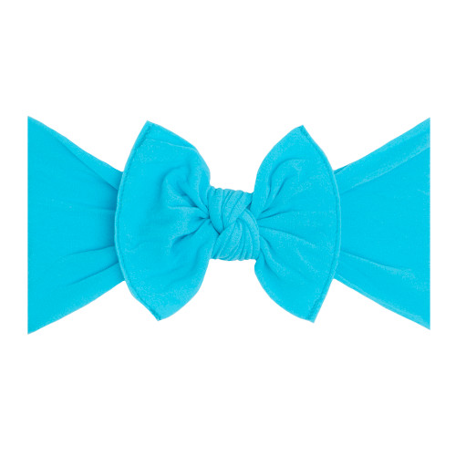 Knot Bow, Neon Blue