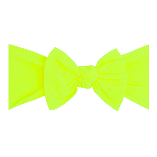 Knot Bow, Neon Safety Yellow