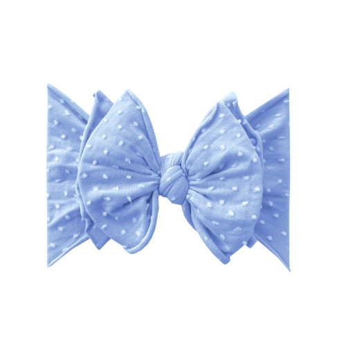 SHAB-BOW-LOUS Bow, Periwinkle Dot