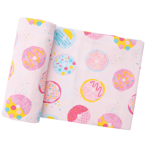 Bamboo Swaddle, Pink Donuts