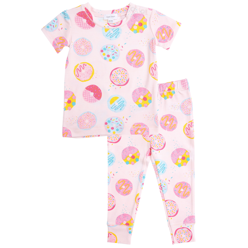 2-Piece Set Lounge Wear Set, Pink Donuts