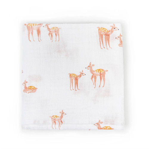 Organic Cotton Burp Cloth, Deer