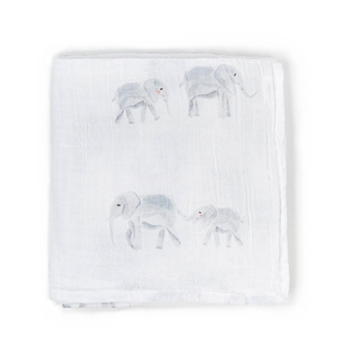 Organic Cotton Burp Cloth, Elephant