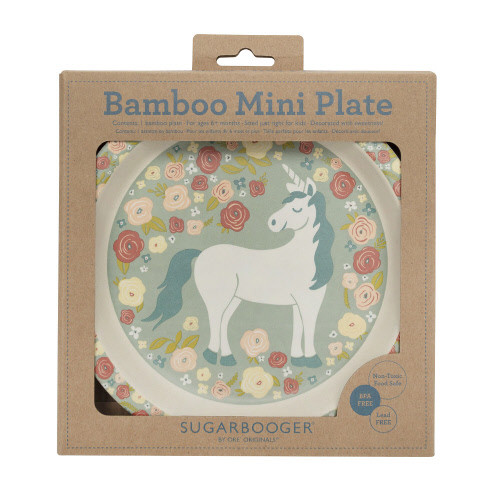 Bamboo Mini Plate, Unicorn