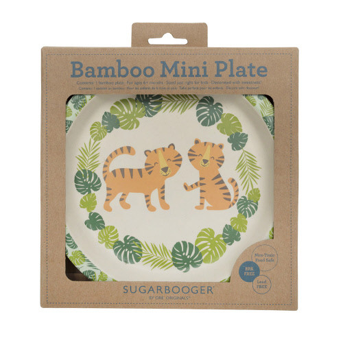 Bamboo Mini Plate, Tiger
