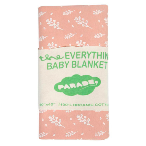 Organic Cotton Baby Blanket, White Floral