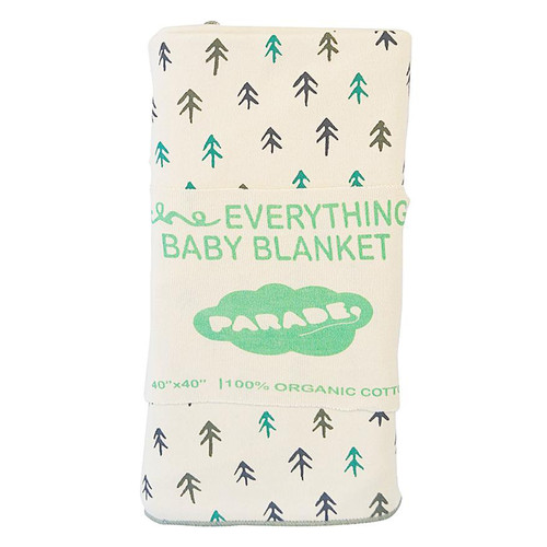 Organic Cotton Baby Blanket, Natural Trees