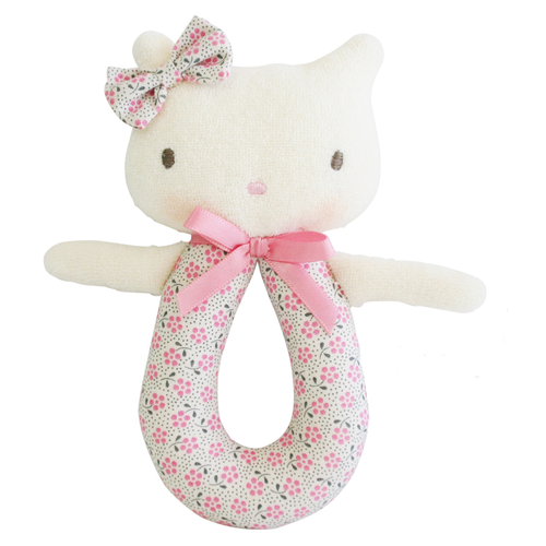 Kitty Grab Rattle, Ditsy Floral