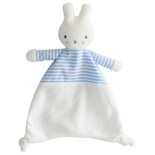 Bunny Security Blankie, Blue Stripe