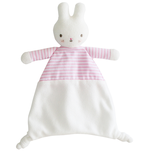 Bunny Security Blankie, Pink Stripe