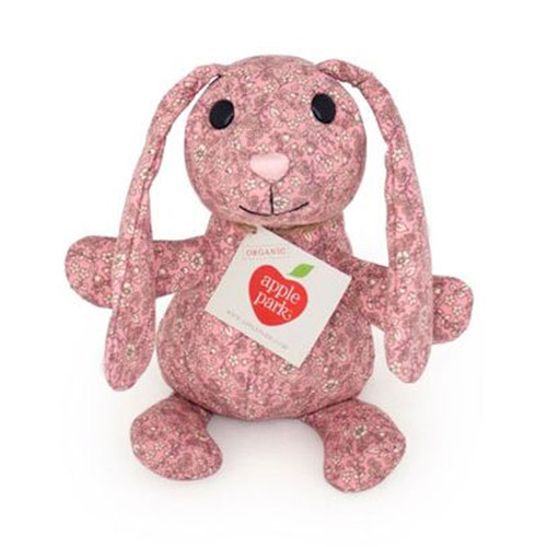 Organic Patterned Bunny, Pink Floral