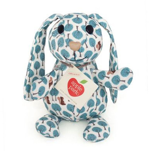 Organic Patterned Bunny, Blue Forest