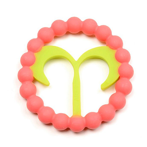 Zodiac Silicone Teether, Aries Pink