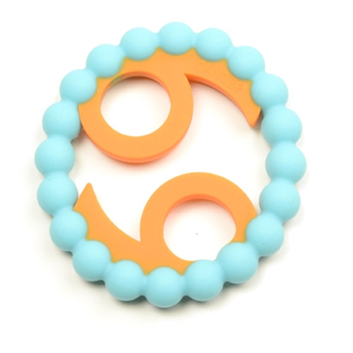 Zodiac Silicone Teether, Cancer Blue