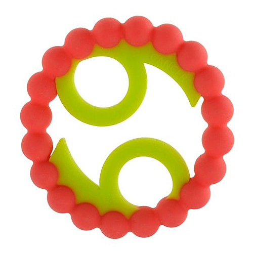 Zodiac Silicone Teether, Cancer Pink