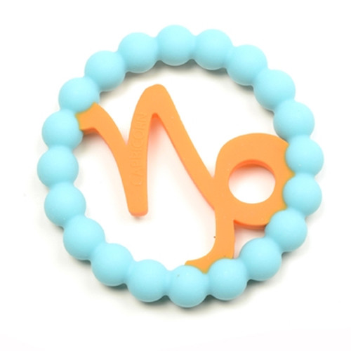 Zodiac Silicone Teether, Capricorn Blue
