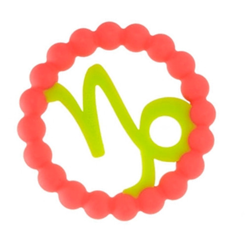 Zodiac Silicone Teether, Capricorn Pink