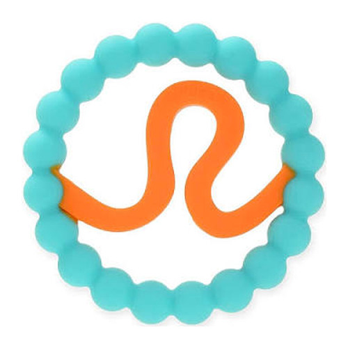 Zodiac Silicone Teether, Leo Blue